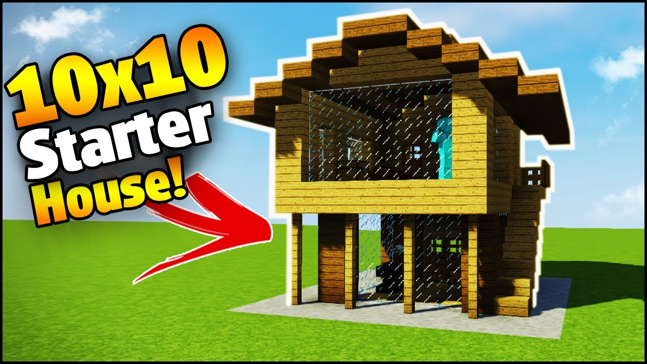Minecraft 10x10 Starter House Tutorial How To Build A House In Minecraft Youtube