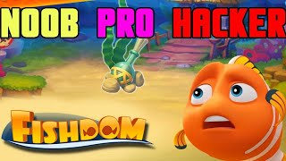 FishDom Noob Vs Pro Vs Hacker