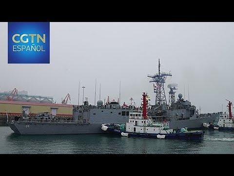 Delegaciones navales de 60 países comienzan a llegar a Qingdao para las celebraciones