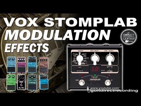 VOX Stomplab MODULATION - All Effects - Chorus, Flanger, Phaser...