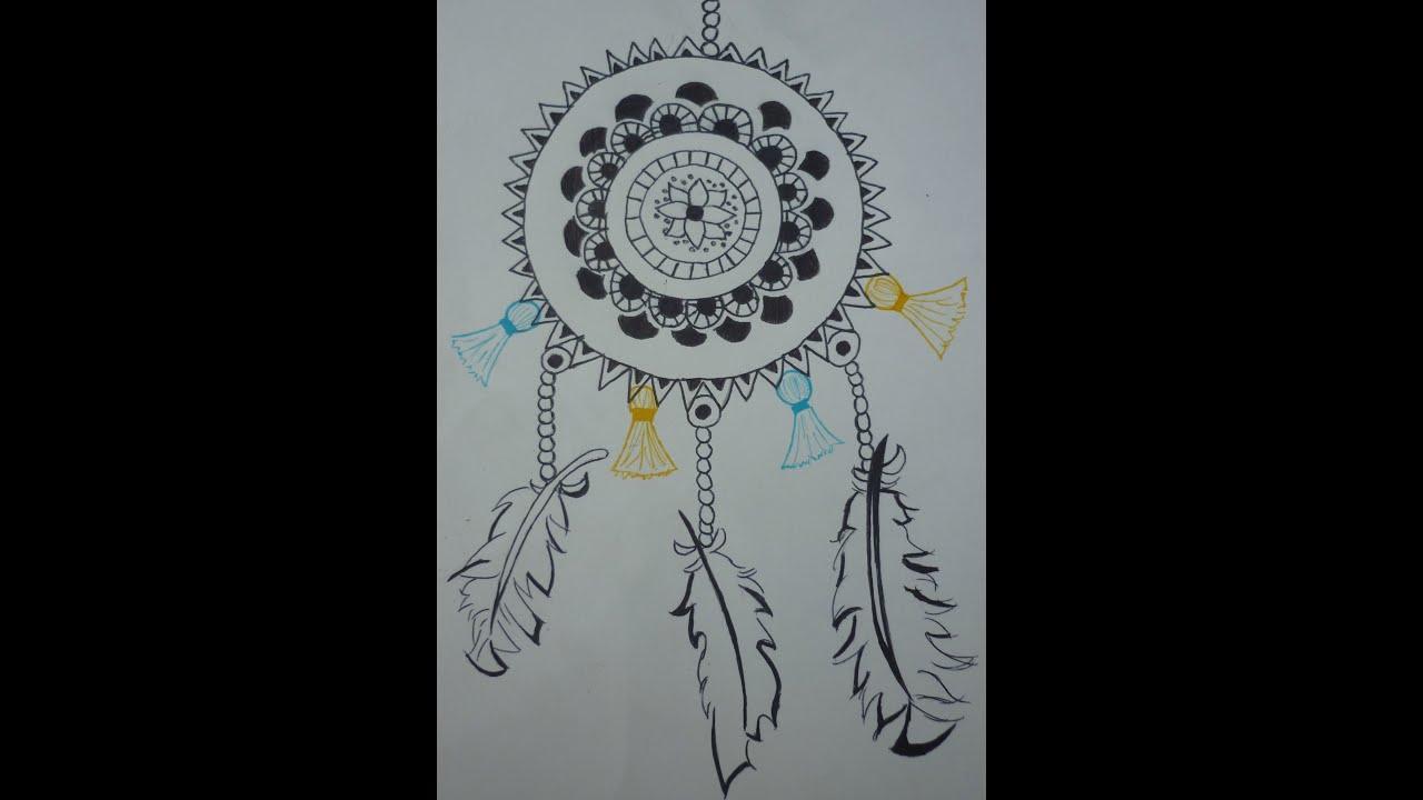 Relativ DESSIN] Tutoriel dessin d'un attrape rêve ♥ - YouTube YP38