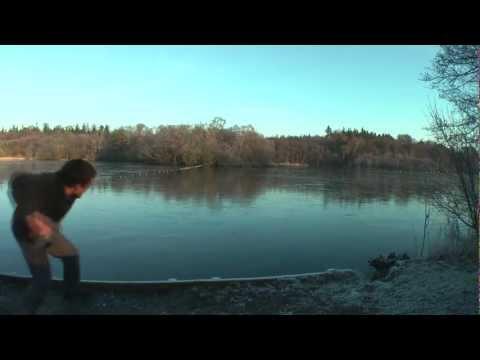 Stone Skimming (Skipping) on Ice