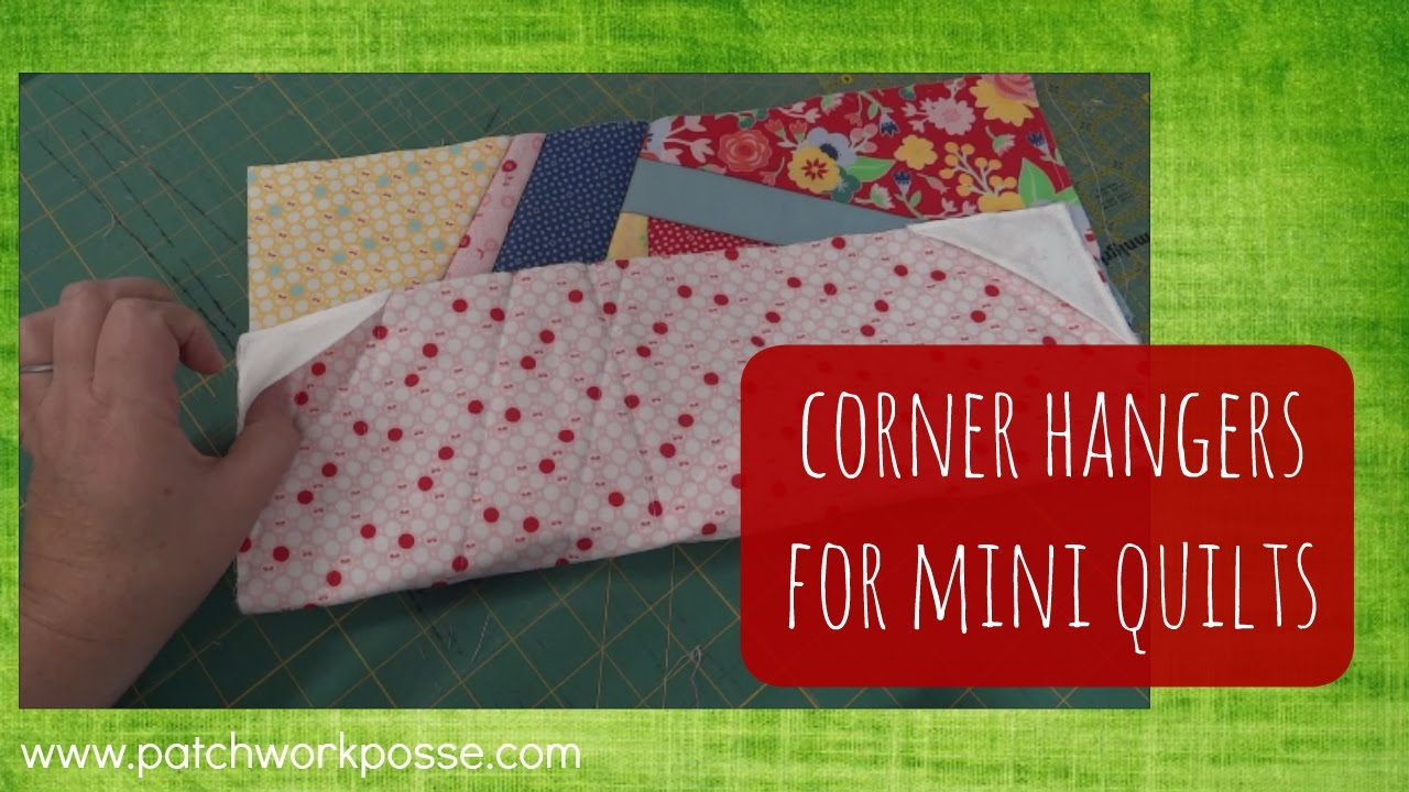 How to add corner hangers to the back of mini quilts - YouTube : mini quilt hangers - Adamdwight.com