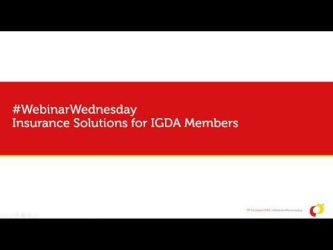 IGDA Webinar, 19 October 2016: IGDA Member Benefit Overview - HUB Insurance