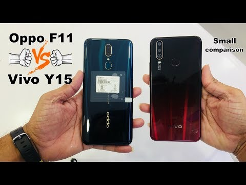 Vivo Y15 And Oppo F11 Small Comparison Camera And Face And Finger Lock Test
