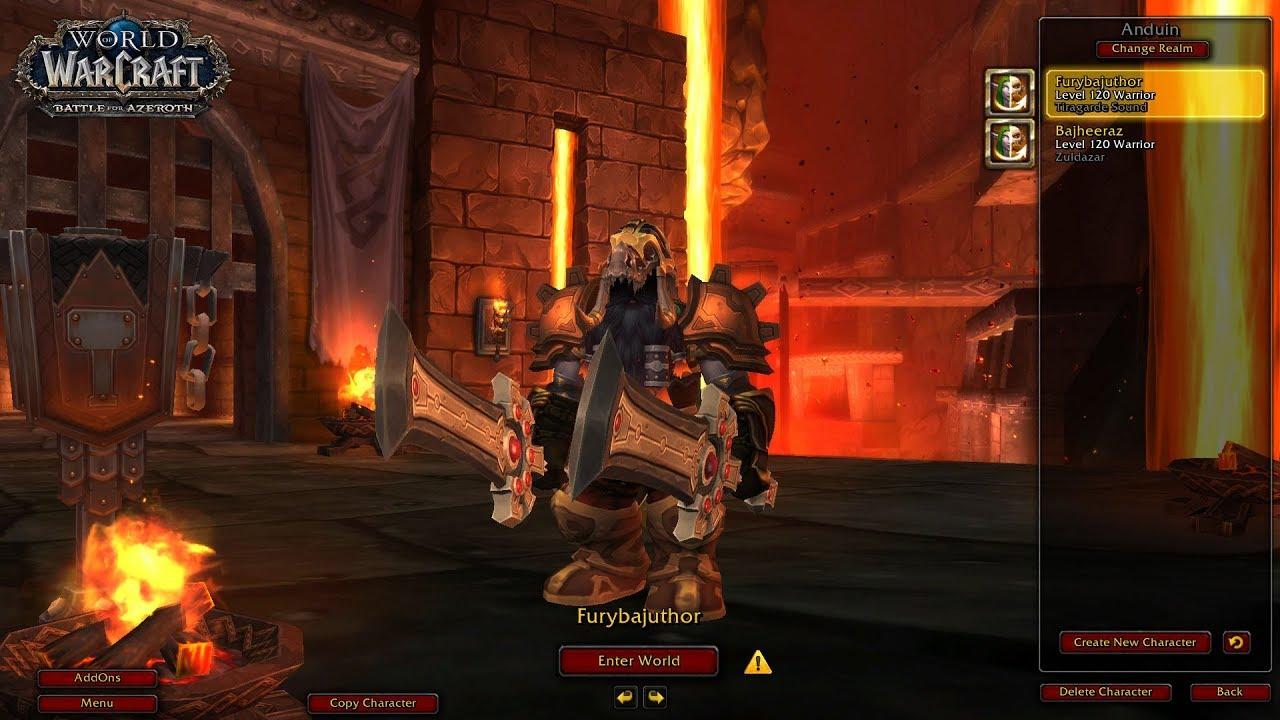 Battle For Azeroth Beta Level 120 Fury Warrior 2v2 Skirmishes