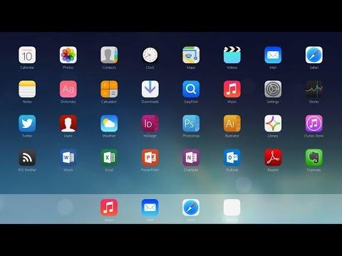 iOS 7 Rainmeter Desktop Customizations For Windows