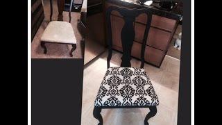 Diy Dinning Room Chair Makeover For Under $10 Bucks