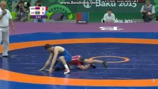 Baku 2015 AZE:Yashar Aliyev (w) 10-6 ARM:Garik Barseghyan