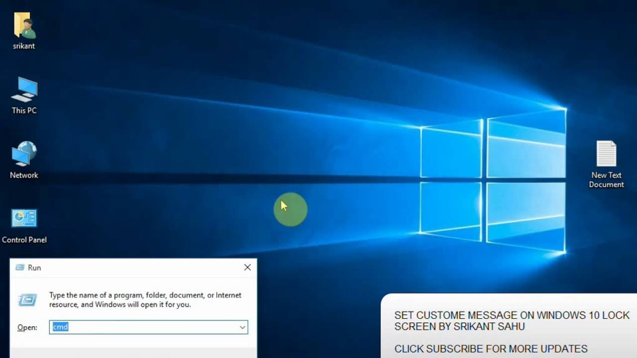 Set A Custom Message On Your Windows 10 Login Screen