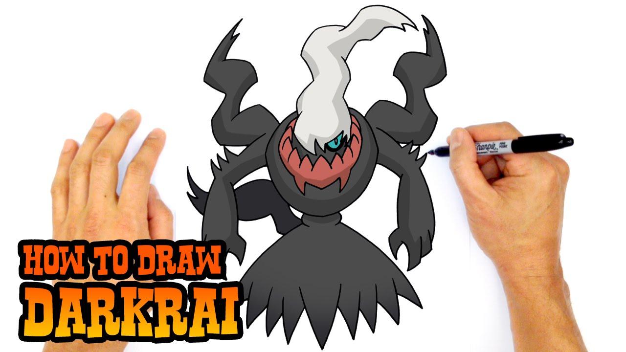 how to draw darkrai pokemon youtube