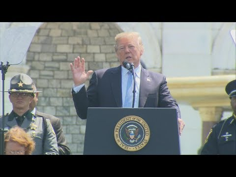 Pres. Trump delivers remarks at 37th Annual National Peace Officers' Memorial Service | ABC News