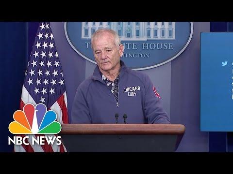 Bill Murray Crashes White House Press Briefing Room To Talk Baseball  NBC