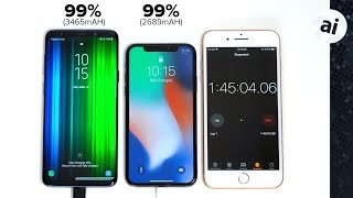 Galaxy S9+ vs iPhone X Fast Charging - Which phone hit 100% first?