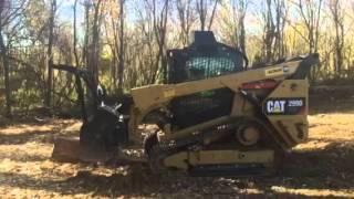 Denis Cimaf Forestry Mulcher on CAT 299D Steel Tracks