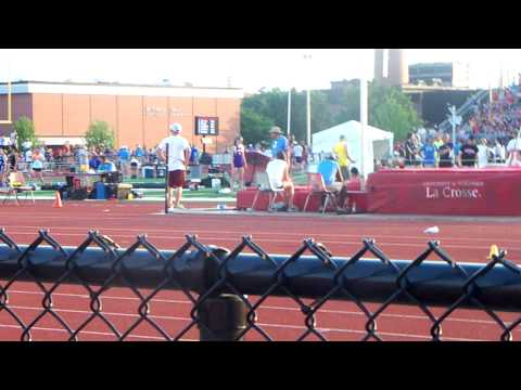 Chris Haase Track STATE Final jump 23 feet 3 inches last jump 1 inch behind the board
