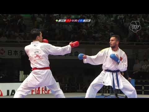 Hiroto Gomyo (JPN) Vs Burak Uygur (TUR) -67kg.Tokyo Karate1Premier League 2019 Gold Medals