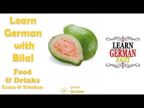 Food & Drinks German Photo Vocabulary with  English