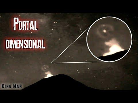 Portal Dimensional encima del cráter del Volcán Popocatepetl de México