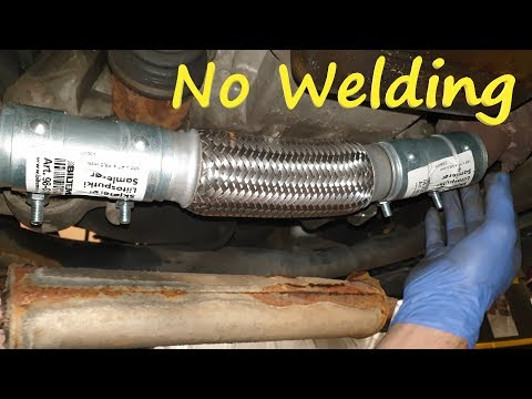 How to Repair the Exhaust Pipes without Welding them / Muffler Fix – Replacement / Opel Corsa C