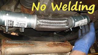 How to Repair the Exhaust Pipes without Welding them / Muffler Fix - Replacement / Opel Corsa C