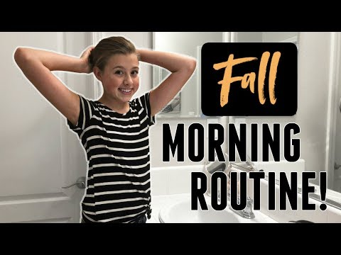 Our Family School Morning Routine!   Fall Edition 2018