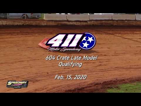 Qualifying 604 Crate Late Model @ 411 Motor Speedway Feb  15, 2020
