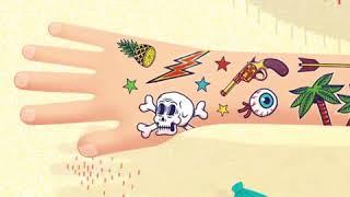 Детские татуировки от компании Djeco