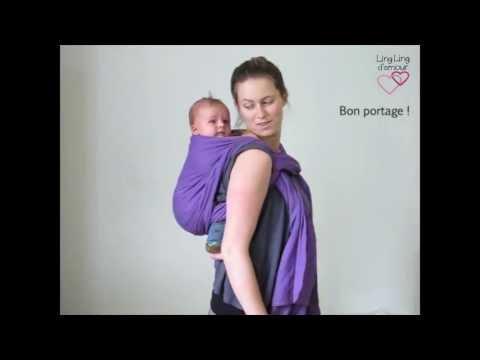 écharpe de portage : kangourou dos spécial petit bébé - asymétrique sac à dos sans nœud