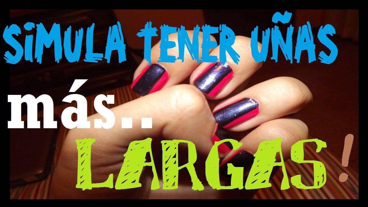 Un diseño que aparenta que tienes las uñas mas largas♥ ! - YouTube