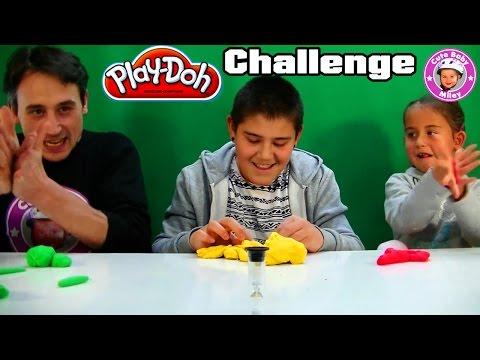 Play-Doh Knetmasse Challenge - Wer Kann Besser Kneten? - Kinderkanal