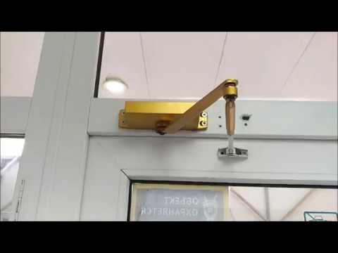 Установка дверного доводчика с фиксацией Оконный МастерЪ om52 ru