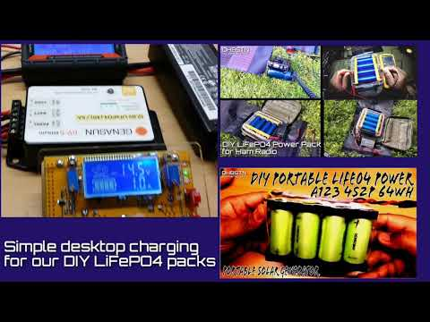 Simple Desktop Charging for LiFePO4 Portable Power Packs