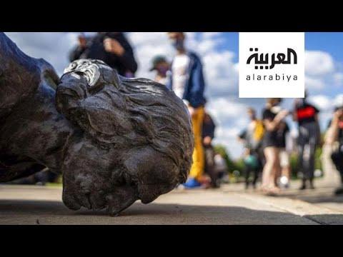 مسلسل استهداف التماثيل في أميركا مستمر  - نشر قبل 2 ساعة