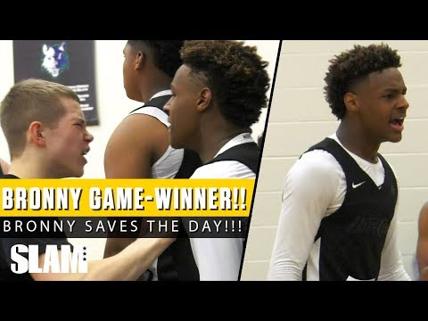 Bronny James hits EPIC GAME-WINNER? Blue Chips & Blake Griffin's Team 3OT 🔥