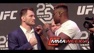 Stipe Miocic And Francis Ngannou 39 S Intense