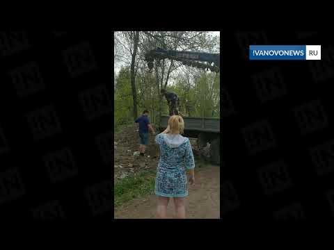 В Иванове частники выгружают мусор из машины у жилых домов