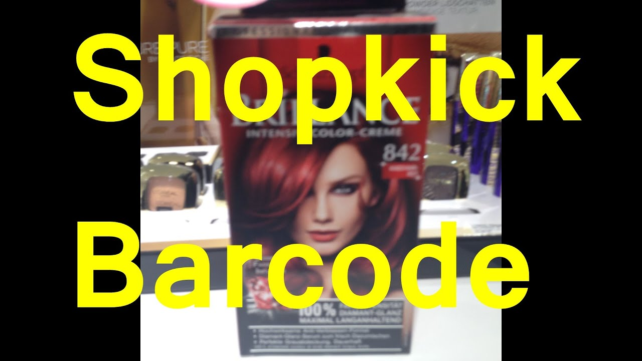 Schwarzkopf Brillance Shopkick Barcode - YouTube