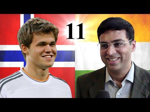 Game 11 - 2014 World Chess Championship - Magnus Carlsen vs Viswanathan Anand