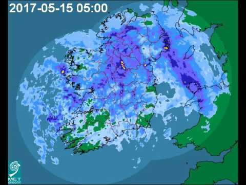 Met Éireann weather radar animation