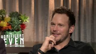 Manuel Garcia Rulfo and Chris Pratt The Magnificent 7 Interview