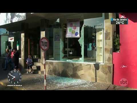 Sobe para 39  número de ataques a bancos no RS este ano | SBT Brasil (07/03/18)
