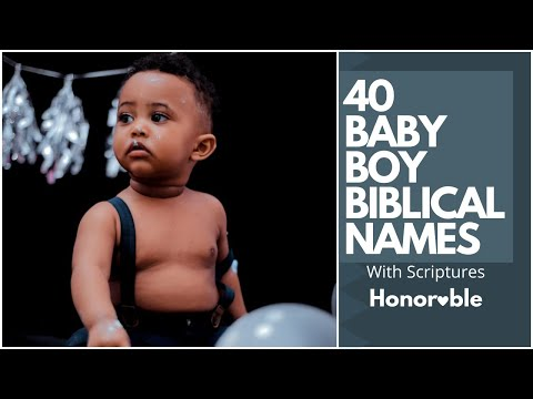 40 Christian (Biblical) Boys  names with Meaning and Scriptures part 1