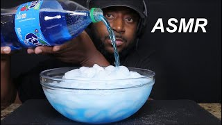 ASMR DRINKING BLUEBERRY FANTA AND CB EXTREME ICE EATING. MUKBANG (NO TALKING) TCASMR