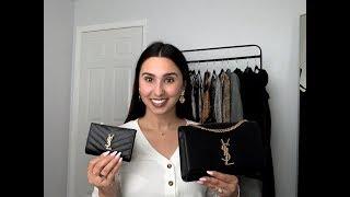 Saint Laurent Kate Medium Handbag And Monogram Wallet Review | Bisous, Brittany
