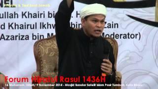 Forum Hijratul Rasul 1436H & Sesi Soal Jawab