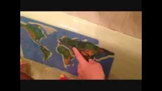 Материки и океаны в ванной