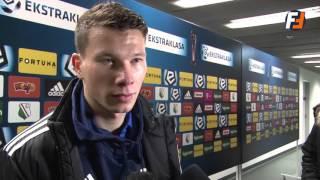 Mateusz Mak po meczu Legia - Piast