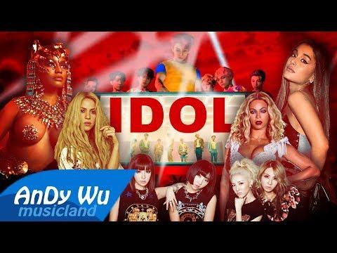 BTS - IDOL (MEGAMIX) ft. Nicki Minaj, 2NE1, Ariana, Shakira, Beyonce, Rihanna, Lady Gaga, Selena