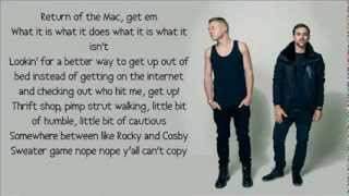 Repeat youtube video Macklemore & Ryan Lewis feat. Ray Dalton - Can't Hold Us lyrics